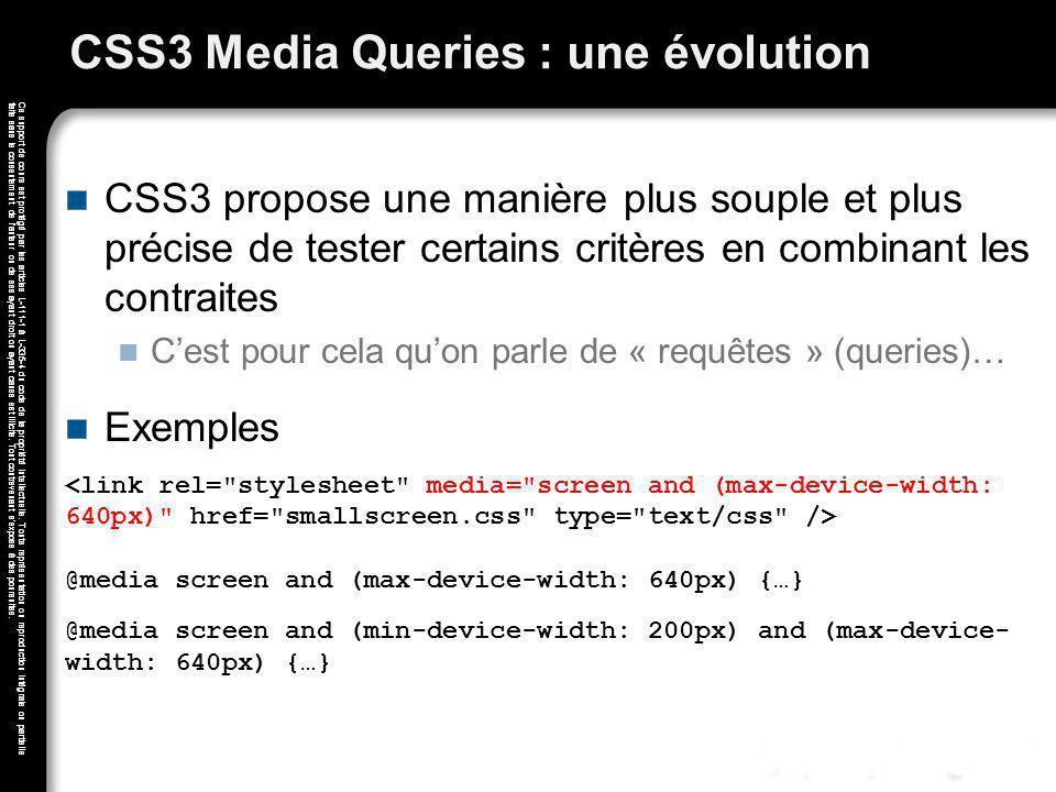 CSS3 Media Queries : une évolution