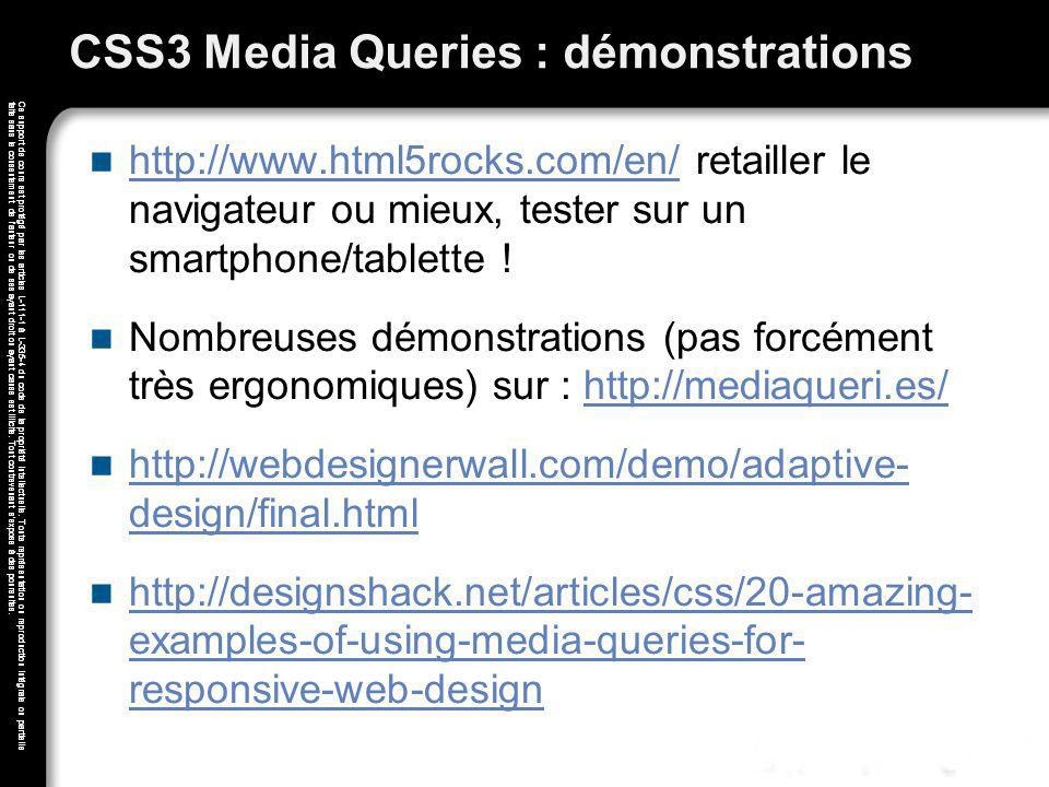 CSS3 Media Queries : démonstrations