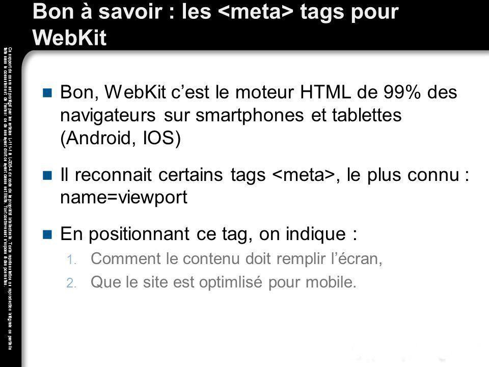 Bon à savoir : les <meta> tags pour WebKit