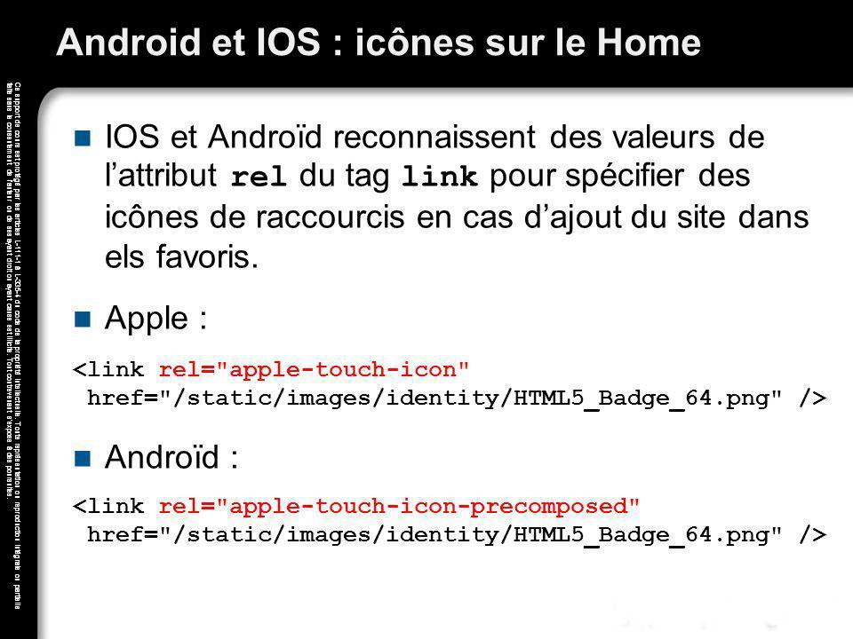 Android et IOS : icônes sur le Home
