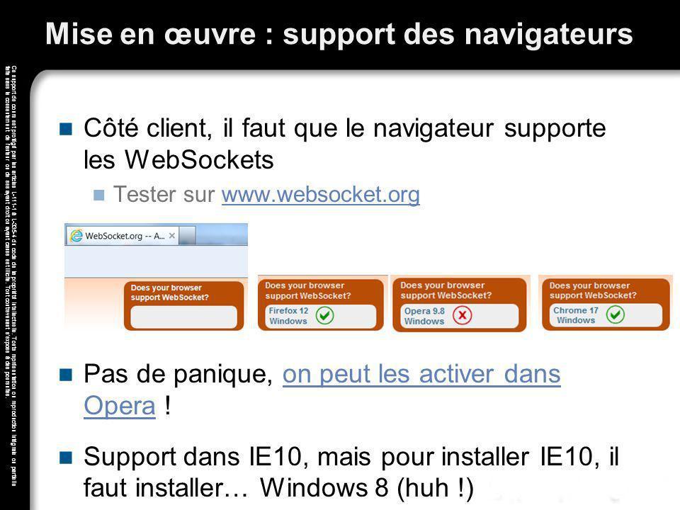 Mise en œuvre : support des navigateurs