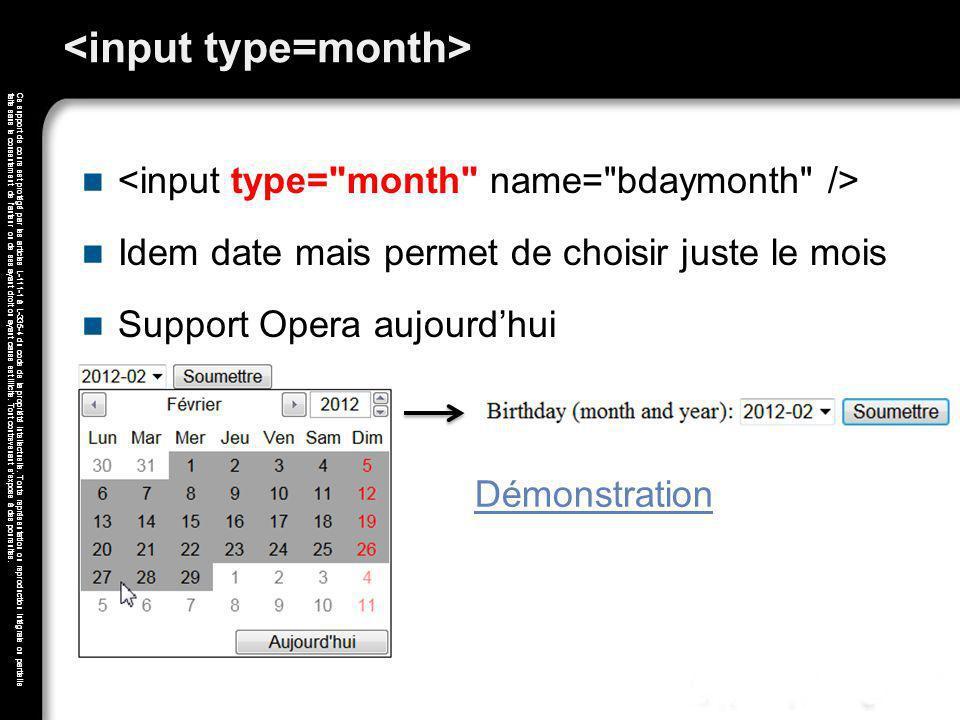 <input type=month>