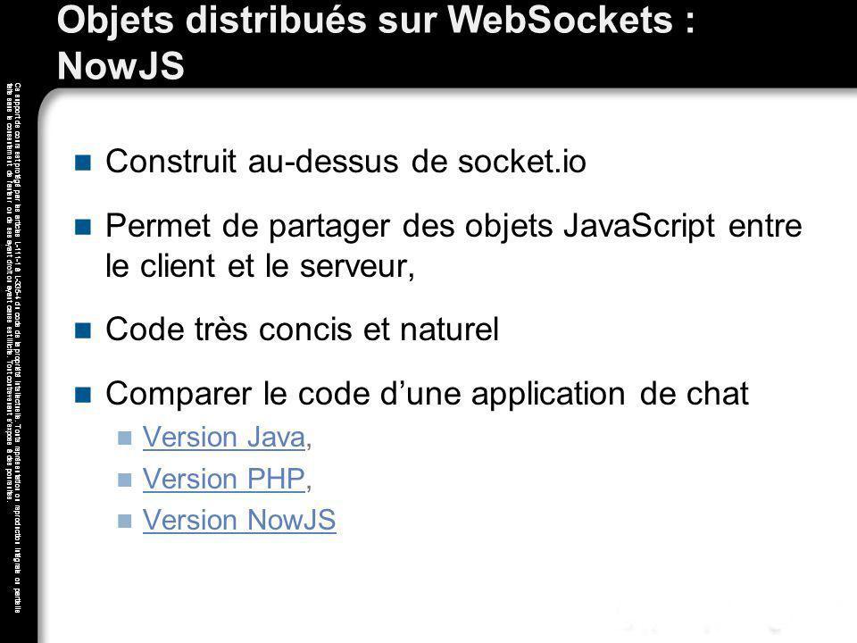Objets distribués sur WebSockets : NowJS