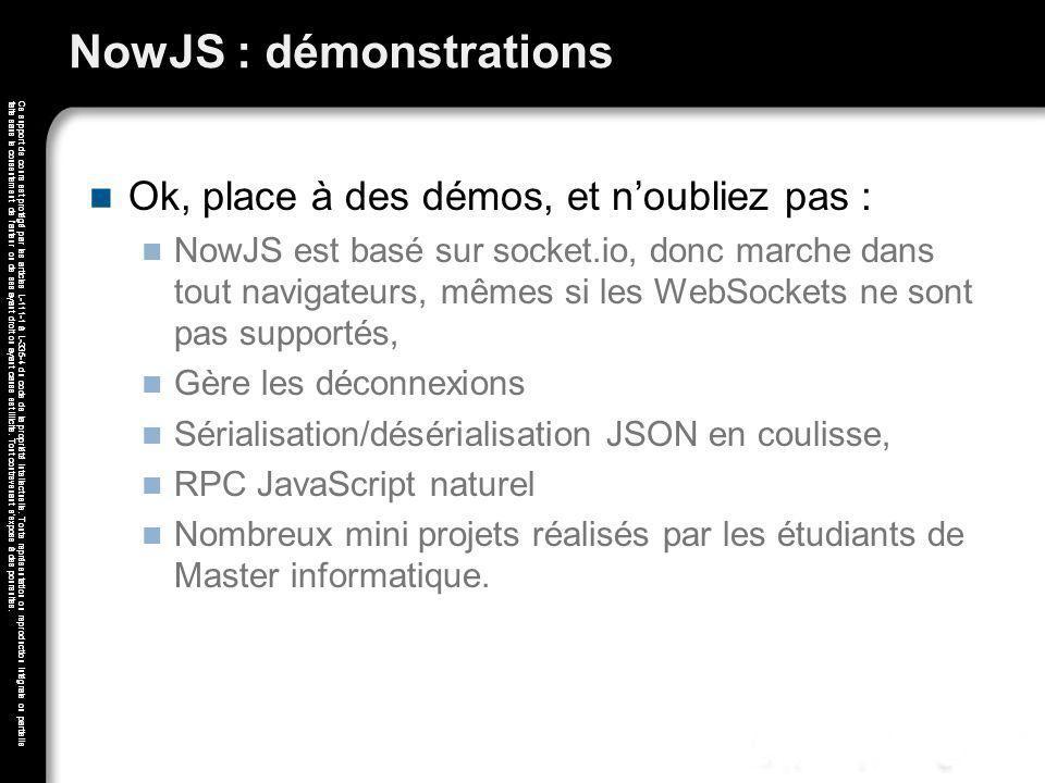 NowJS : démonstrations