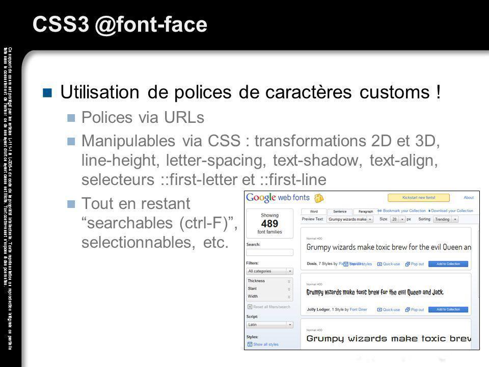 CSS3 @font-face Utilisation de polices de caractères customs !