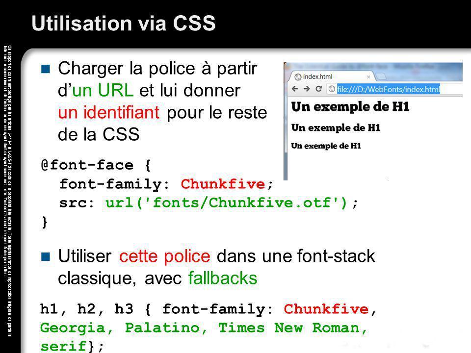 Utilisation via CSS Charger la police à partir d'un URL et lui donner un identifiant pour le reste de la CSS.