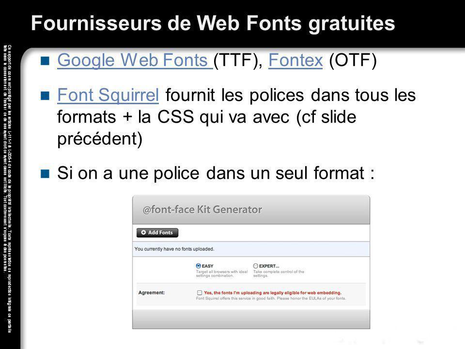 Fournisseurs de Web Fonts gratuites