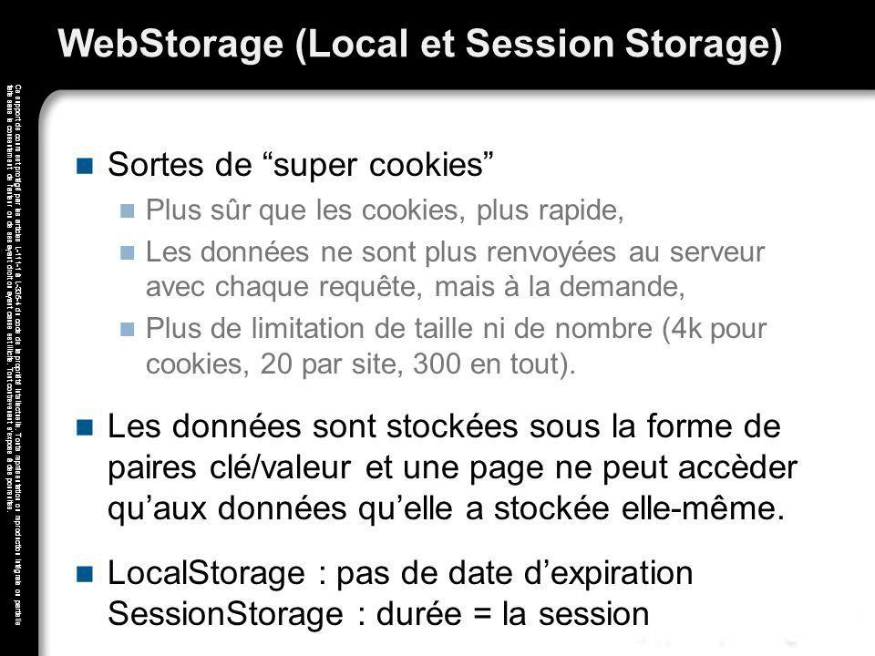 WebStorage (Local et Session Storage)