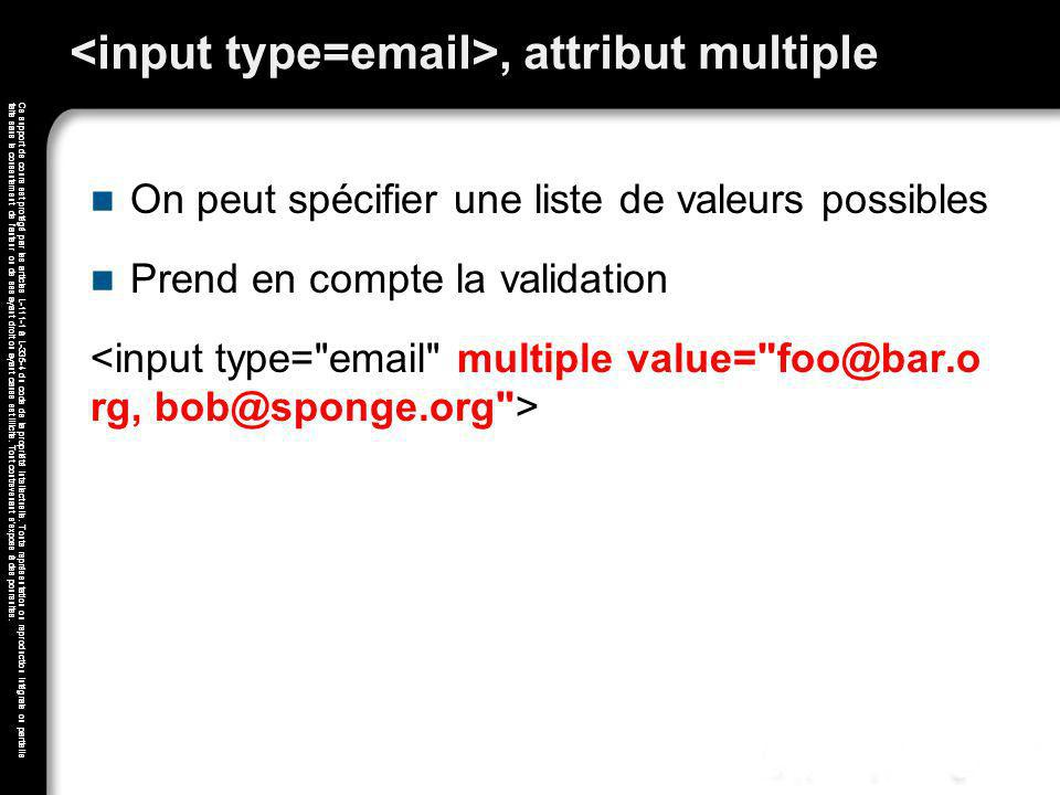<input type=email>, attribut multiple