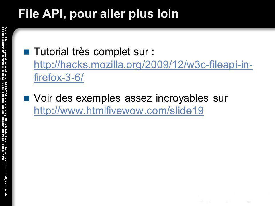 File API, pour aller plus loin