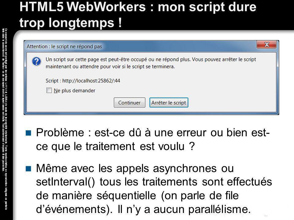 HTML5 WebWorkers : mon script dure trop longtemps !