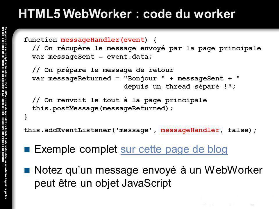 HTML5 WebWorker : code du worker