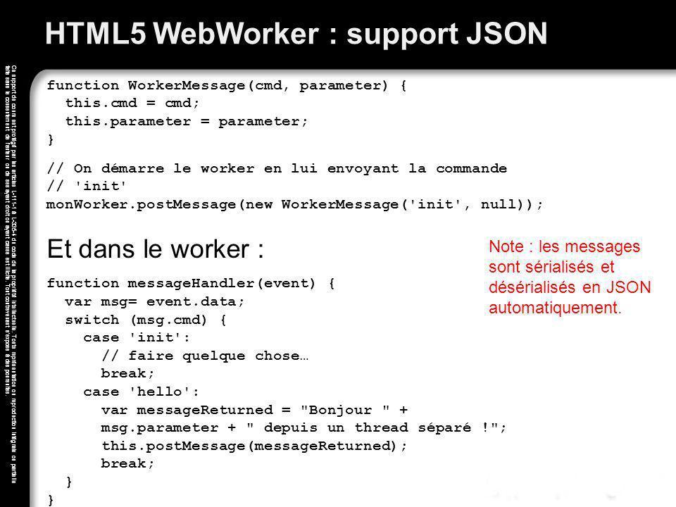HTML5 WebWorker : support JSON