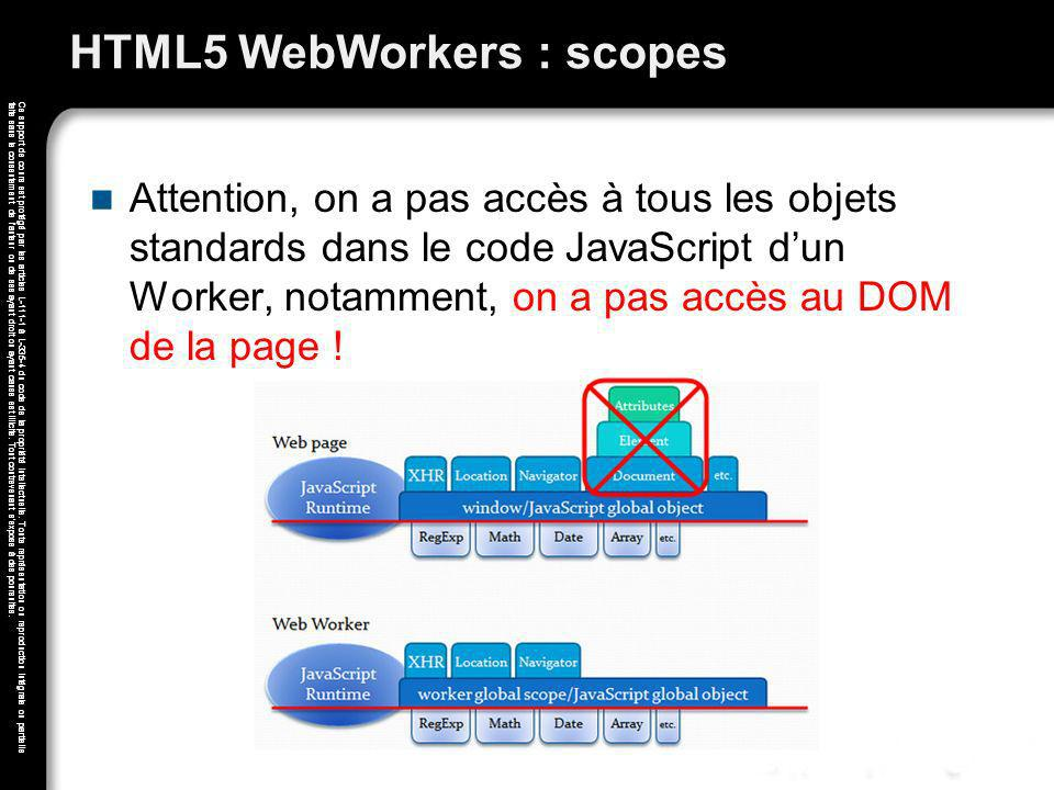 HTML5 WebWorkers : scopes