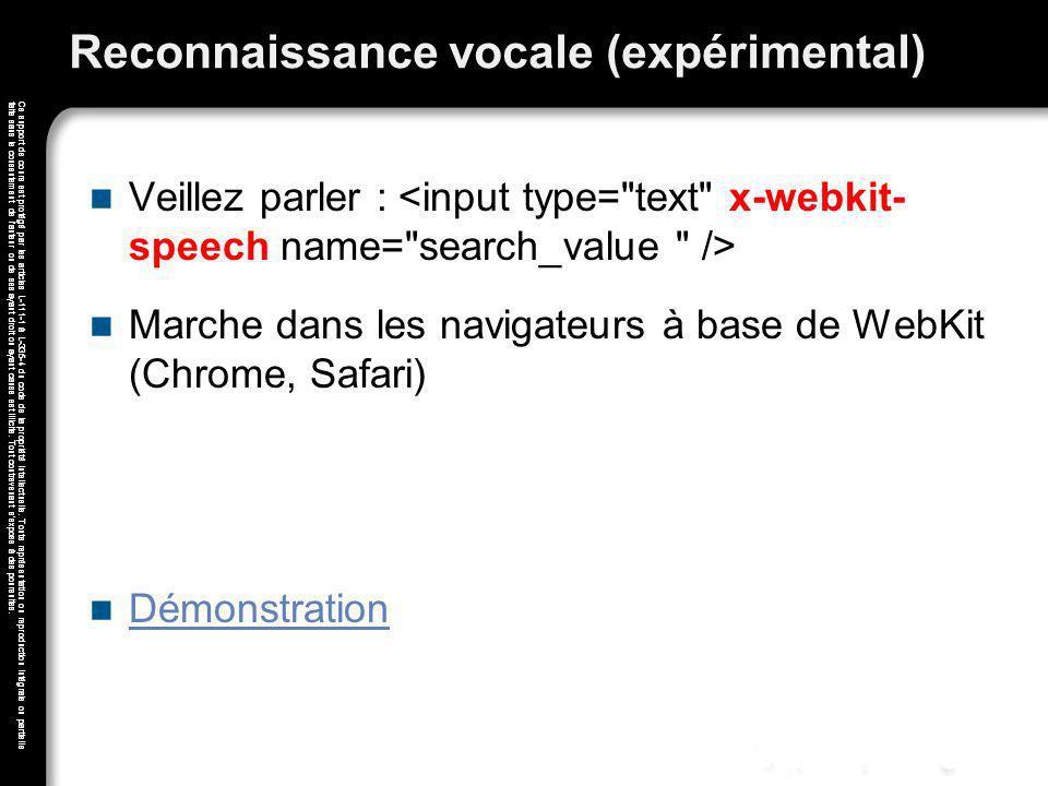 Reconnaissance vocale (expérimental)