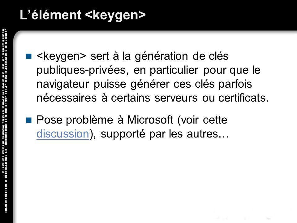 L'élément <keygen>