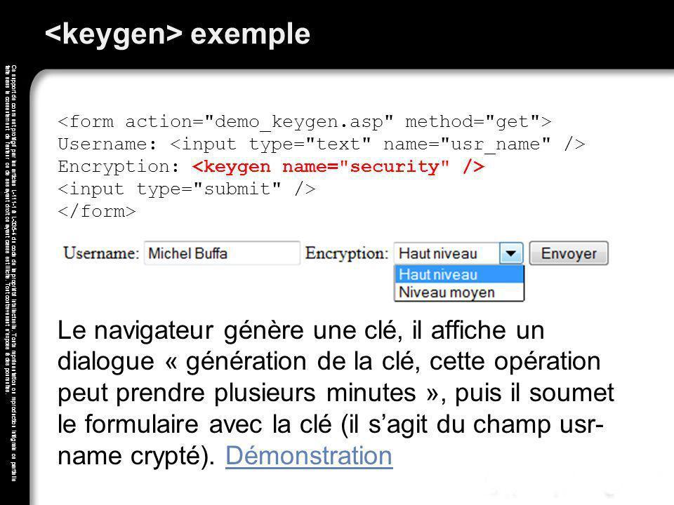 <keygen> exemple