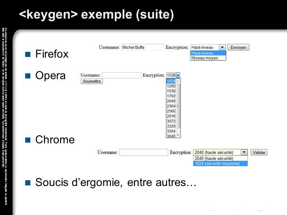 <keygen> exemple (suite)