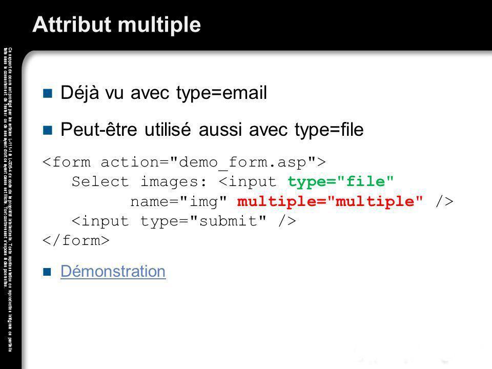 Attribut multiple Déjà vu avec type=email