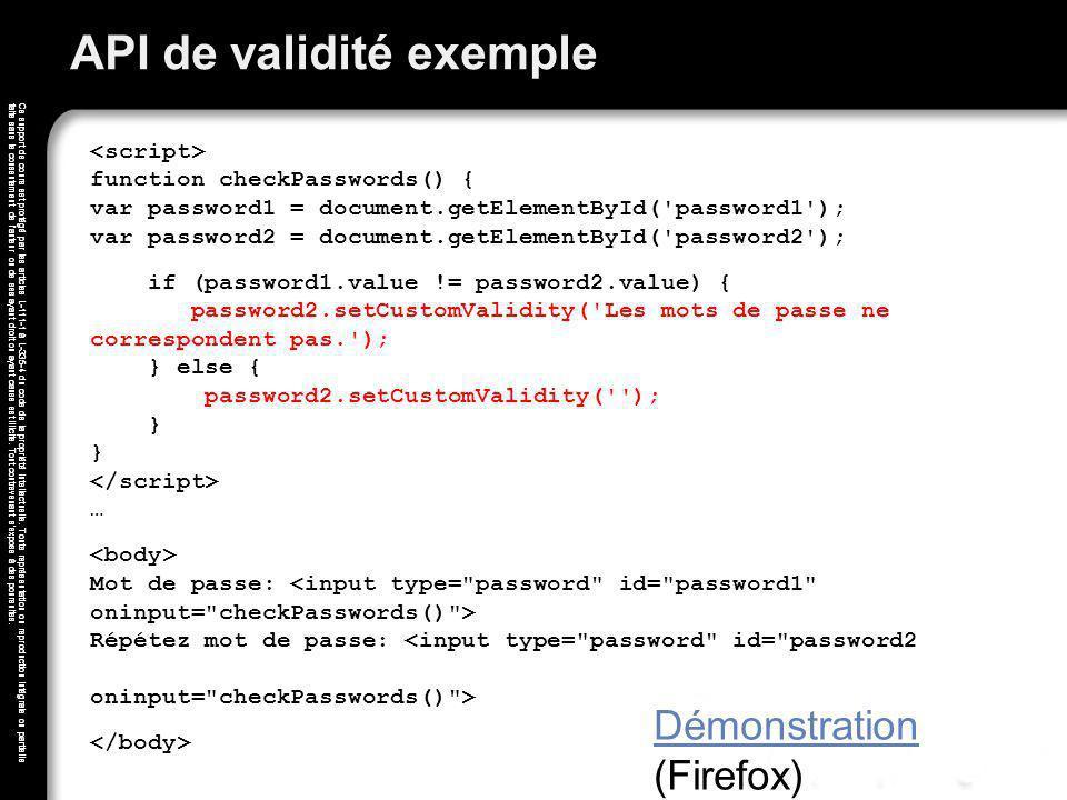 API de validité exemple