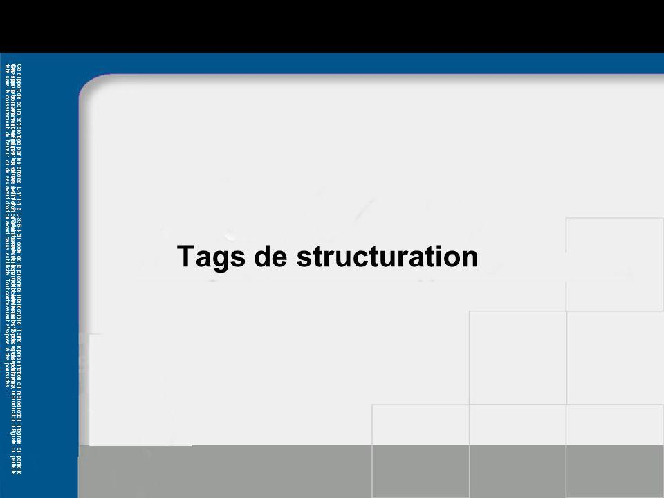 Tags de structuration * 07/16/96