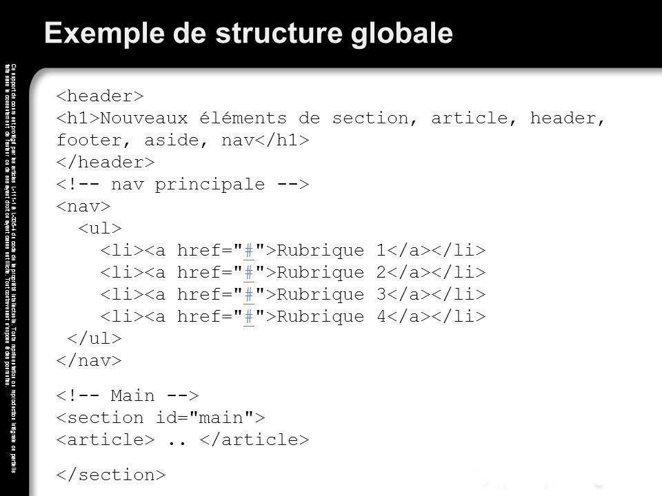 Exemple de structure globale