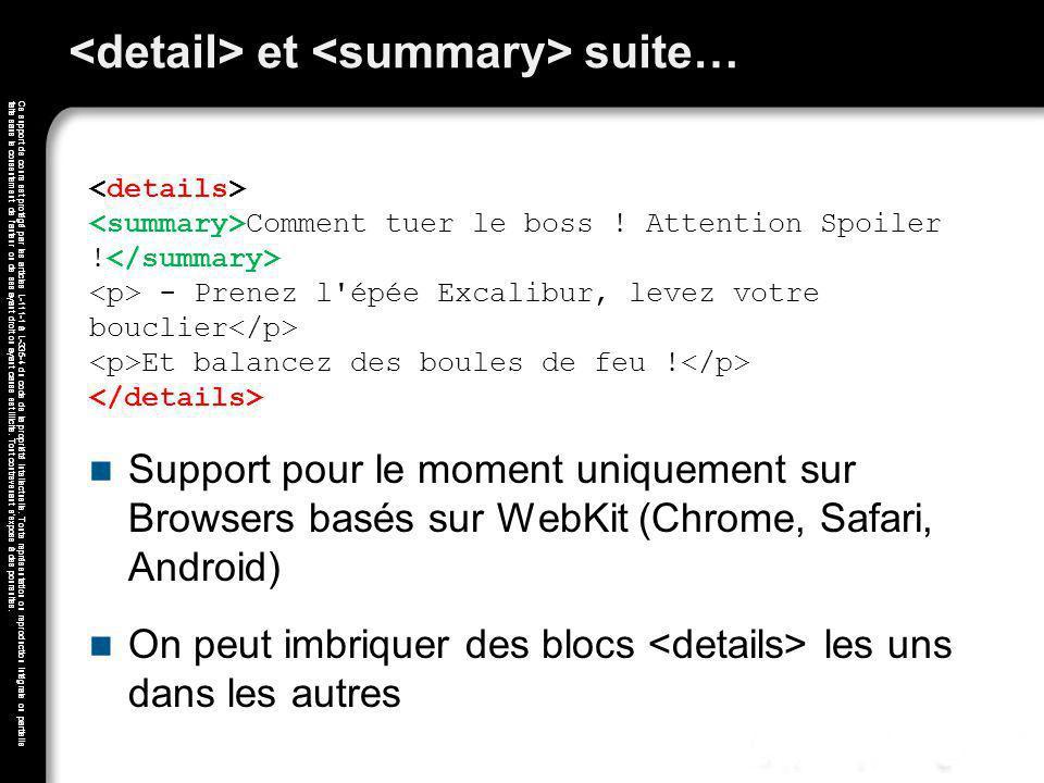 <detail> et <summary> suite…