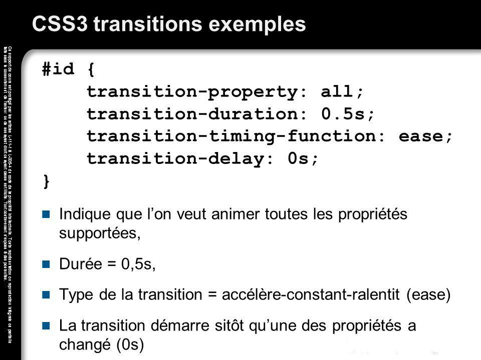 CSS3 transitions exemples