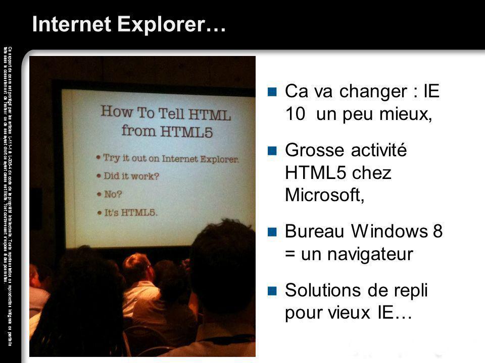 Internet Explorer… Ca va changer : IE 10 un peu mieux,