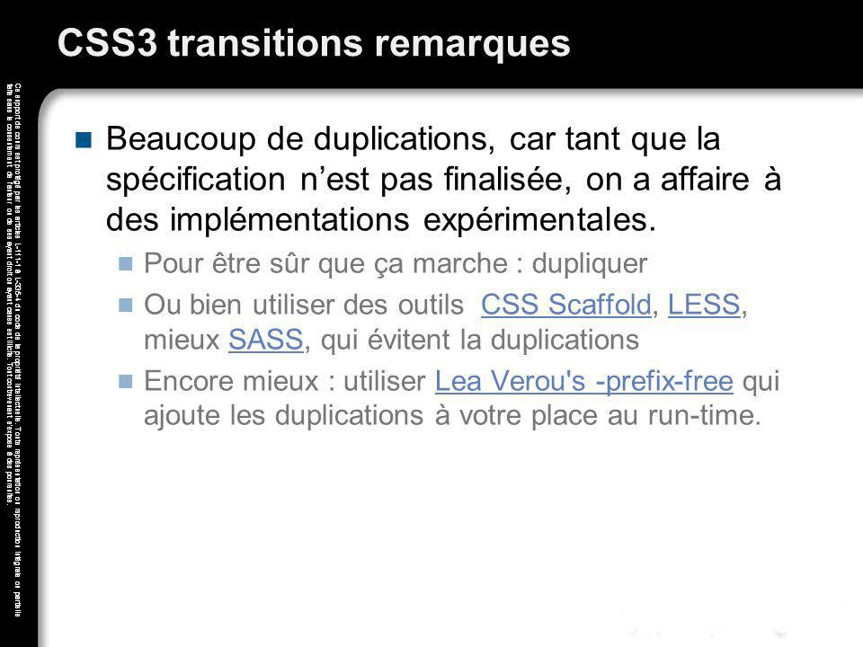 CSS3 transitions remarques