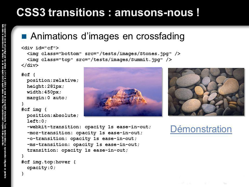 CSS3 transitions : amusons-nous !