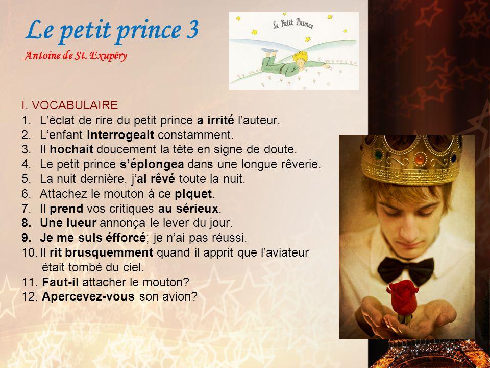 Le petit prince 3 Antoine de St. Exupéry