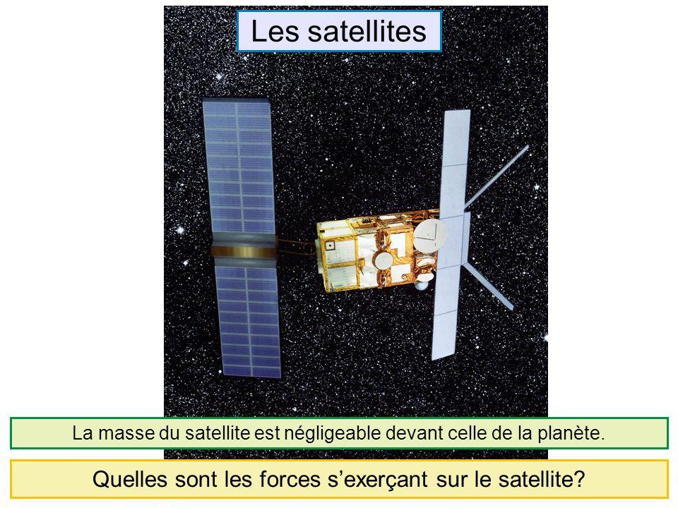 Les satellites Quelles sont les forces s'exerçant sur le satellite