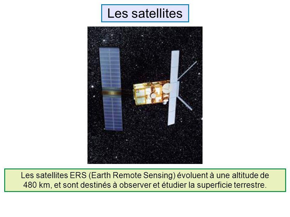 Les satellites ERS (Earth Remote Sensing) évoluent à une altitude de