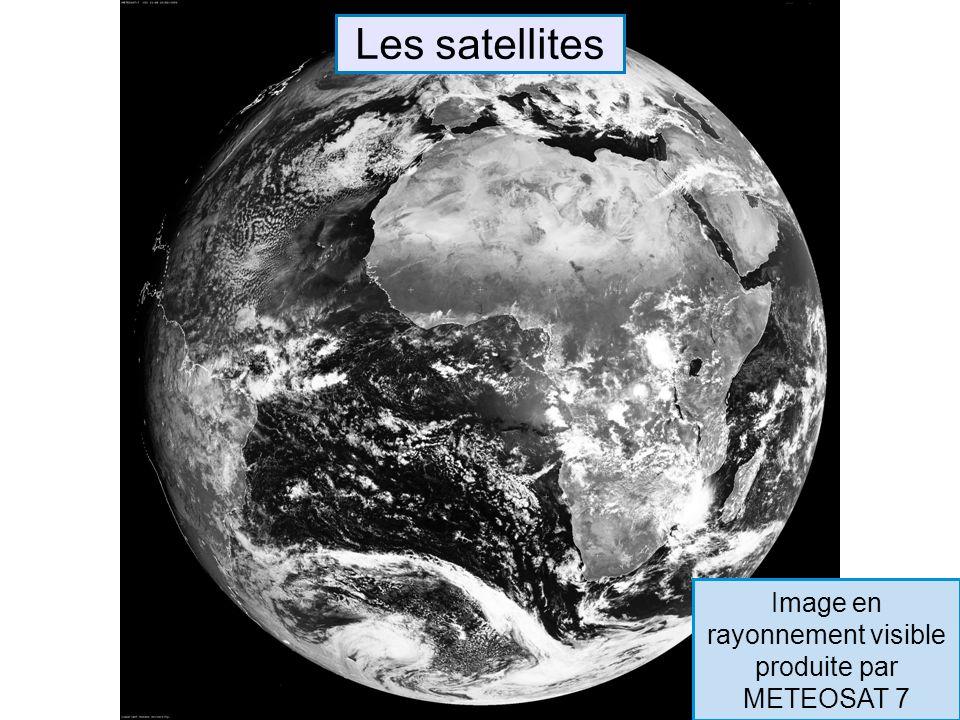 Image en rayonnement visible produite par METEOSAT 7