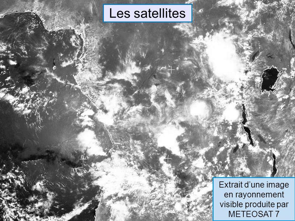Extrait d'une image en rayonnement visible produite par METEOSAT 7