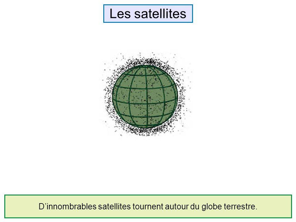 D'innombrables satellites tournent autour du globe terrestre.