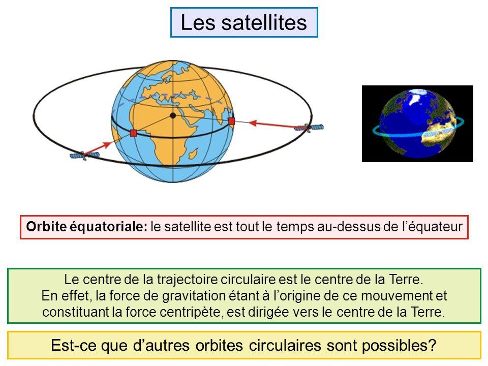 Les satellites Est-ce que d'autres orbites circulaires sont possibles