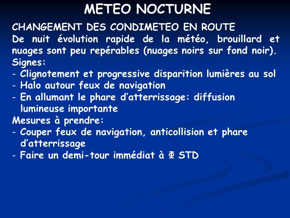 METEO NOCTURNE CHANGEMENT DES CONDIMETEO EN ROUTE