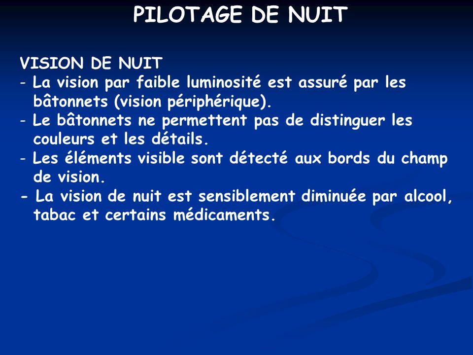 PILOTAGE DE NUIT VISION DE NUIT