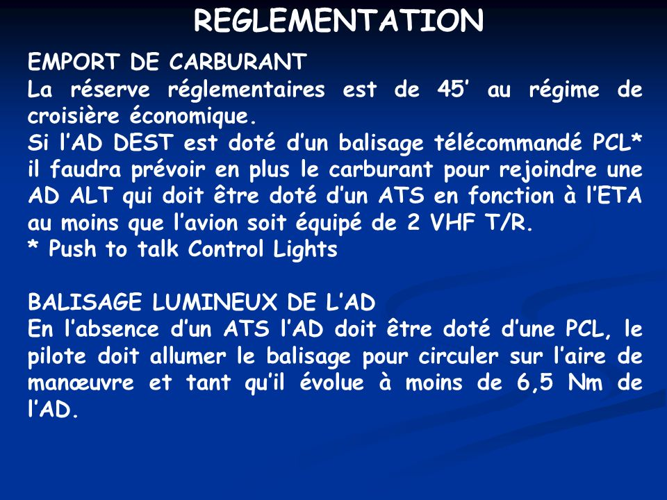 REGLEMENTATION EMPORT DE CARBURANT