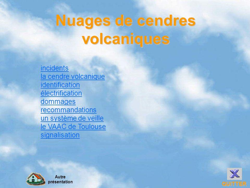 Nuages de cendres volcaniques