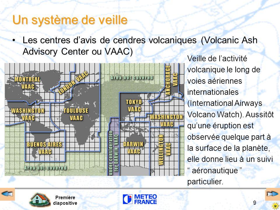 Un système de veille Les centres d'avis de cendres volcaniques (Volcanic Ash Advisory Center ou VAAC)