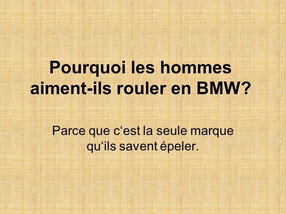 Pourquoi les hommes aiment-ils rouler en BMW