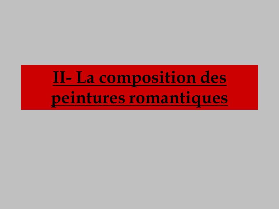 II- La composition des peintures romantiques