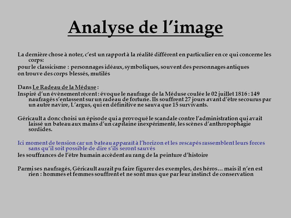 Analyse de l'image La dernière chose à noter, c'est un rapport à la réalité différent en particulier en ce qui concerne les corps: