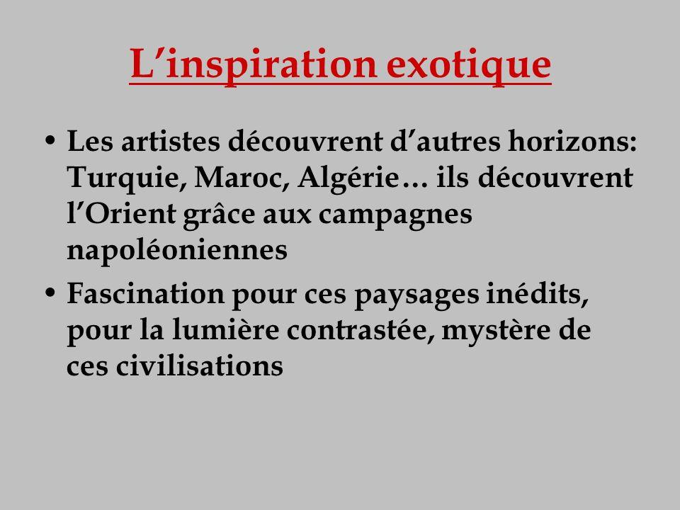 L'inspiration exotique
