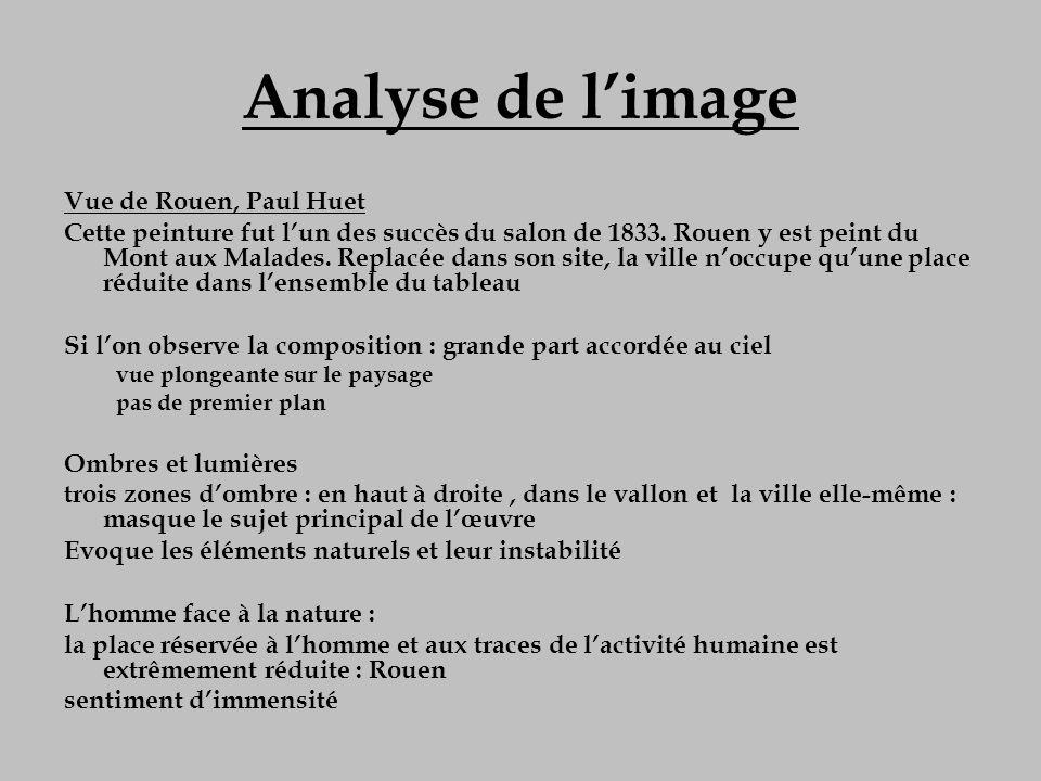 Analyse de l'image Vue de Rouen, Paul Huet