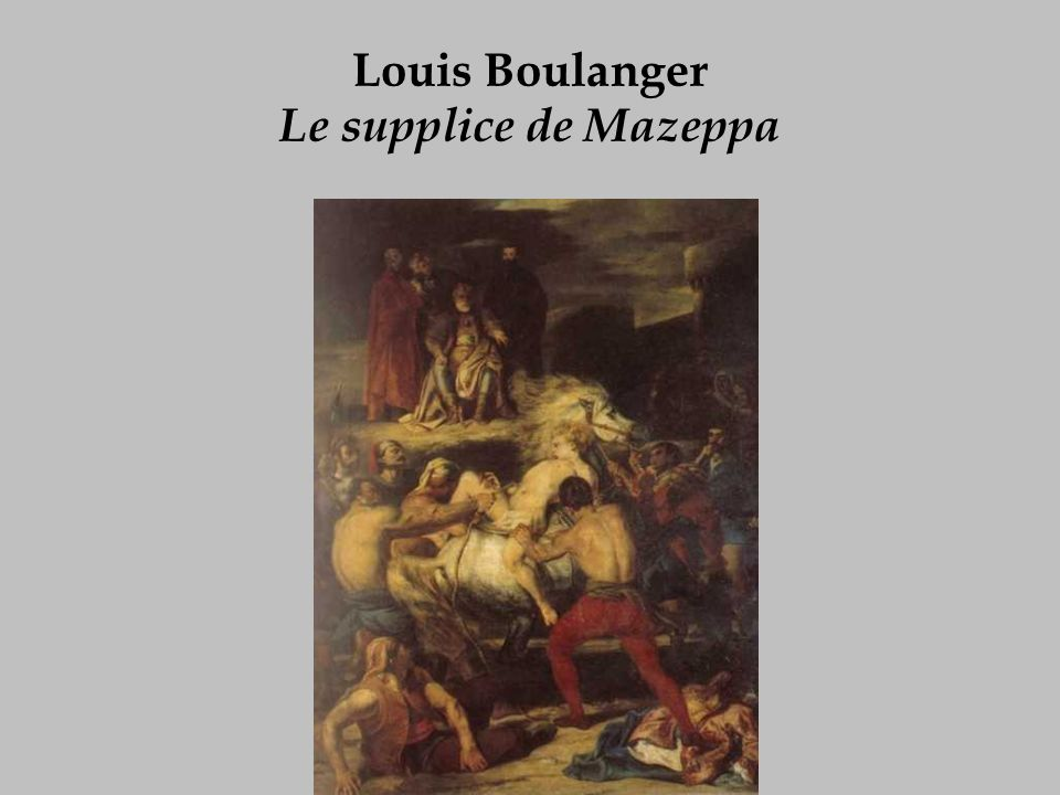 Louis Boulanger Le supplice de Mazeppa