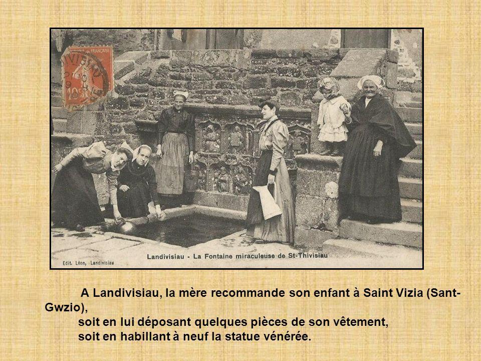 A Landivisiau, la mère recommande son enfant à Saint Vizia (Sant-Gwzio),